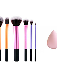 cheap -6 Blush Brush Synthetic Hair Professional / Full Coverage / Portable Metal Face / Eye Others And Puff Pink