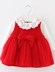 Completo Girl Casual Tinta unita Cotone Primavera / Autunno Blu / Rosso