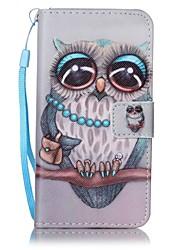 povoljno -Θήκη Za Samsung Galaxy A5(2016) / A3(2016) Novčanik / Utor za kartice Korice Sova Tvrdo PU koža za A5(2016) / A3(2016)