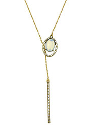 cheap -Fashion Gold Color Rhinestone Long Chain Necklace