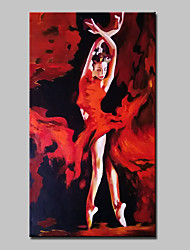 cheap -Hand Painted Modern Abstract Dancing Girl Oil Painting On Canvas Wall Art Pictures For Living Room Home Decoration Ready To Hang