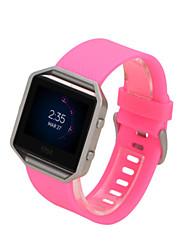 Недорогие -Красный / Черный / Белый / Зеленый / Синий / Розовый / Фиолетовый / Оранжевый силиконовый Спортивный ремешок Для Fitbit Смотреть 23мм
