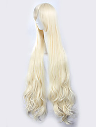 cheap -Kagerou Project Sakura Jasmine Light Golden Yellow Long Curly Hair Halloween Wig Synthetic Wig Costume Wigs