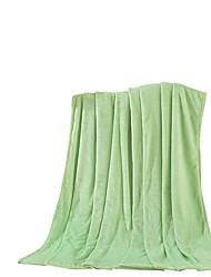 Flanela Verde,Sólido Sólido 100% Poliéster cobertores 200x230cm