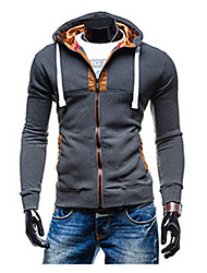 Brand Hight Quality Men's Daily Active Regular Hooded Long Sleeve Cotton Fall / Winter Medium Micro-elastic Hot