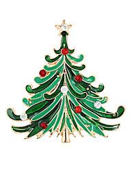 baratos -Mulheres Broches - Fashion, Natal Broche Verde Para Festa / Ocasião Especial / Aniversário