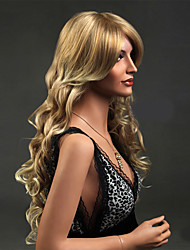 cheap -Golden Synthetic Hair America and Europe Popular Up Ladies Wig