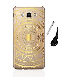Coque Pour Samsung Galaxy J5 (2016) J3 (2016) Translucide Motif Coque Arrière Mandala Flexible TPU pour J5 (2016) J5 J3 (2016) J3 J1