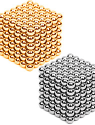 Magnet Toys 432 Pieces 3MM Magnetic Balls 216PCS *2 Golden&Silver 2 Color Mixed in 1 Box Diameter 3 MM Stress Relievers DIY KIT Magnet