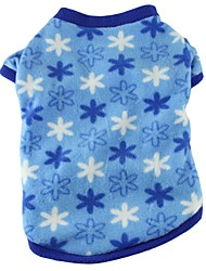 Katzen Hunde T-shirt Pyjamas Hundekleidung Sommer Frühling/Herbst Plaid/Karomuster Niedlich Lässig/Alltäglich Rose Blau Rosa Leopard