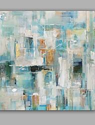 abordables -Peint à la main Abstrait Carré, Classique Moderne Toile Peinture à l'huile Hang-peint Décoration d'intérieur Un Panneau