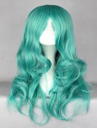 economico -Donna Parrucche sintetiche Senza tappo Lungo Ondulati Verde Parrucca Cosplay Lolita Parrucca costumi parrucche