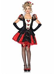 cheap -Queen of Hearts Cosplay Costume Sexy Uniforms Red Terylene Cosplay Accessories Halloween / Carnival