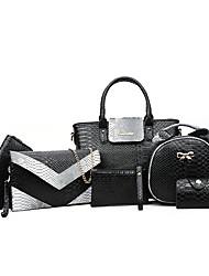 Donna Sacchetti Per tutte le stagioni PU (Poliuretano) sacchetto regola per Serata/evento Casual Formale Bianco Nero Grigio Viola Rosa