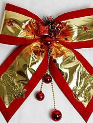 Недорогие -рождественские украшения рождественской вечеринки дополнения красный край платины Merry Christmas BOWKNOT 30 * 35см