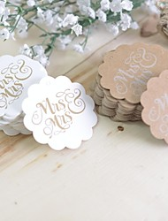 cheap -Gay wedding gift Rustic Theme Stickers Labels & Tags-100 Piece/Set Labels / Tags / Stickers White / Brown
