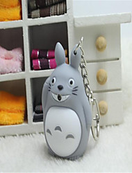 cheap -Totoro LED Luminous Voice Ornaments Cartoon Creative Key Ring