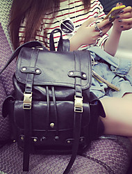 Недорогие -Жен. Мешки PU / Искусственная кожа рюкзак Молнии для Повседневные Черный / Коричневый