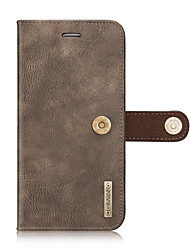 cheap -Genuine Natural Cowhide Leather Cover Case for iPhone 7 Plus 7 6s 6 Plus Wallet Card Holder