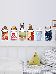 cheap -Merry Christmas Creative DIY Rabbits Wall Stickers PVC Environmental Living Room Wall Decals