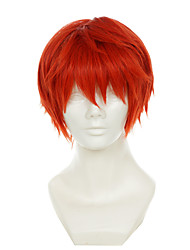 povoljno -Perike za maškare / Sintetičke perike Ravan kroj Crvena Žene Capless Cosplay perika Sintentička kosa