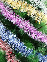 Longueur 2 de chiffrement de ruban de décoration d'arbre de Noël m noël rribbon 2m laine peignée guirlande