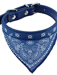 cheap -Cat Dog Collar Soft Bandanas Hands free Casual Cosplay Solid PU Leather Fabric Black Coffee Red Blue