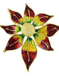 colorido esmalte broches forma de flor do sol