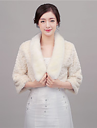 cheap -Faux Fur Wedding Women's Wrap With Feathers / fur Coats / Jackets