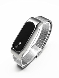 cheap -Butterfly Clasp Stainless Steel Watch Band for Xiaomi Miband 2