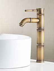 Contemporain / Décoration artistique/Rétro / Modern norme Spout Set de centre Douche with  Valve en laiton Mitigeur un trou for  Nickel