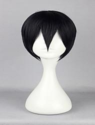 cheap -Tokyo Ghoul Kaneki Ken 30cm Short Black High Quality Synthetic Halloween Cosplay Wigs