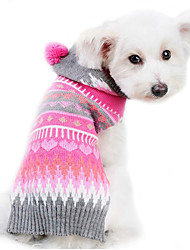 cheap -Dog Sweater Dog Clothes Stripe Woolen Costume For Pets Men's Women's Cute Keep Warm