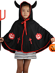 Cosplay Little Monster Cosplay Hoodies Halloween Costume Children 's Dance Performance Horns Devil Shawl Vampire Cloak