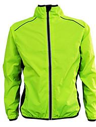abordables -Hombre / Mujer Chaqueta de Ciclismo Bicicleta Chaqueta / Top Resistente al Viento, Impermeable, Transpirable Naranja / Amarillo / Verde Ropa para Ciclismo / Elástico / Tallas Grandes