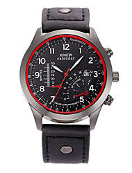 cheap -Men's Wrist Watch Hot Sale / / PU Band Casual / Fashion Black / Stainless Steel