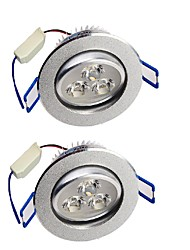 cheap -YouOKLight  2PCS 3W 280LM  3-LEDs Warm White/White  LED Ceiling Lamp - Silver (AC 85-265V)