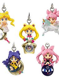 preiswerte -Anime Action-Figuren Inspiriert von Sailor Moon Princess Serenity PVC 5 CM Modell Spielzeug Puppe Spielzeug