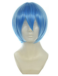 Evangelion EVA Ayanami Rei Light Blue Short Straight Halloween Wig Synthetic Wig Costume Wigs