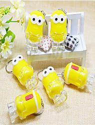 piccolo portachiavi auto coppia giallo ciondolo
