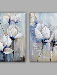 cheap -Oil Painting Hand Painted - Floral/Botanical Classic Modern Canvas