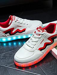 Unisex-Sneaker-Outddor Lässig Sportlich-PU-Flacher Absatz-Komfort Neuheit Light Up Schuhe