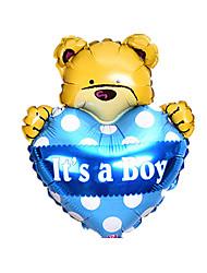 Недорогие -Воздушные шары Игрушки В форме сердца Животный принт Надувной Для вечеринок Оригинальные Алюминий Девочки Мальчики 1 Куски