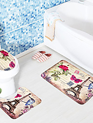 Spellfire 3-Piece Random Household Articles Have a Festive Mood Christmas Balneal Bedroom Non-Slip Mat