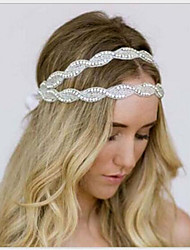cheap -Gemstone & Crystal Tulle Rhinestone Headbands Headpiece with Crystal Feather 1 Wedding Special Occasion Event / Party Party / Evening