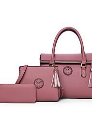baratos -Mulheres Bolsas PU Conjuntos de saco 3 Pcs Purse Set Roxo / Vermelho / Azul / Conjuntos de sacolas