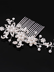 cheap -Imitation Pearl Rhinestone Hair Combs 1 Wedding Special Occasion Casual Office & Career Headpiece