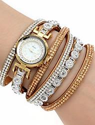 Women's Fashion Watch Wrist watch Bracelet Watch Simulated Diamond Watch Colorful Imitation Diamond Quartz PU BandBohemian Charm Bangle