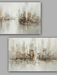 cheap -Hand-Painted Abstract Vertical, Classic Modern Canvas Oil Painting Home Decoration Two Panels