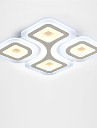 36W Modern Style Simplicity LED Ceiling Lamp Ultra thin type Acrylic Flush Mount Living Room Bedroom External white light inside warm white